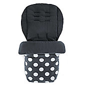 Mamas & Papas - Universal Soft Fleece Footmuff - Grey Polka