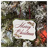 Merry Christmas Sign Christmas Tree Decoration