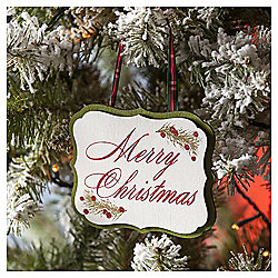 Merry Christmas Sign Christmas Tree Decoration
