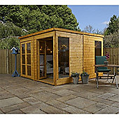 10 x 10 Pent Summerhouse Garden Wooden Summerhouse