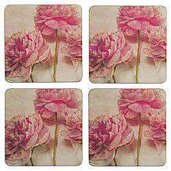 Couture Rose Coaster, Pack of 4