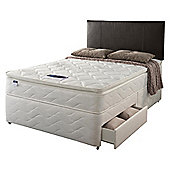 Silentnight Miracoil Pillowtop Fiji Double 2 Drawer Divan Set