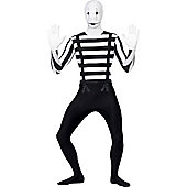 Mime Second Skin Suit - Adult Costume Size: 46-48