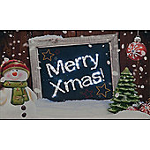 Merry Christmas Illuminated Wall Canvas 40x30cm
