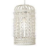 MiniSun Ornate Ceiling Pendant Light Shade in Cream
