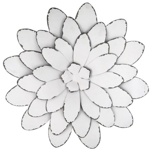 Pacific Lifestyle Large Flower Design Metal Art