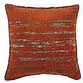 McAlister Burnt Orange Textured Chenille Cushion Cover - 43x43cm