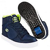 Heelys Cart 2.0 Navy/Neon Yellow Heely Shoe - - Blue