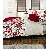 Dreams n Drapes Rosso   Quilt Set - Red