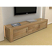 Baumhaus CMR09A Atlas Solid Oak TV Cabinet