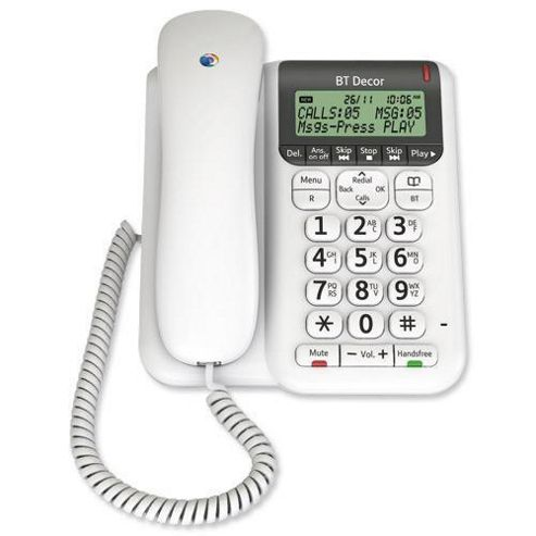 BT DECOR 2500 Corded Telephone with Answer Machine