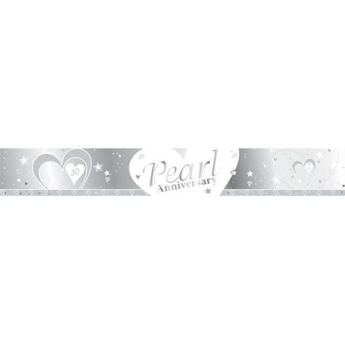 Loving Hearts Pearl Anniversary 9ft Banner (each)