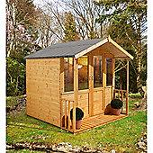 7ft x 7ft Maplehurst Summerhouse 7 x 7 Garden Wooden Summerhouse 7x7
