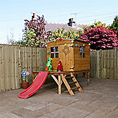 8ft x 8ft Apex Tower 8 x 8 Playhouse With Slide 8x8