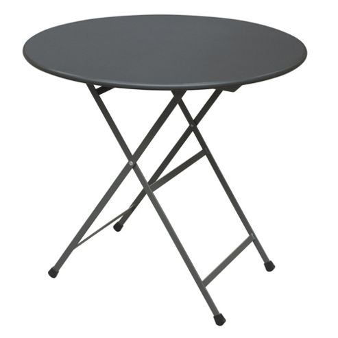 emu Arc En Ciel Folding Round Table - Antique Iron