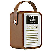 View Quest Retro Mini DAB+/FM Radio with Bluetooth (Brown)