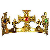 Plastic Gold Jewelled Kings Crown
