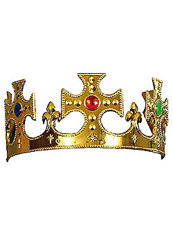 Henbrandt ltd - Plastic Gold Jewelled Kings Crown