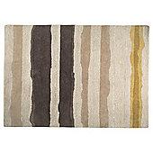 Ombre Stripe Wool Rug 80 x 150, Ochre