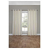 Silk Effect Lined Eyelet Curtains, Duck Egg (66 x 54'') - Ivory