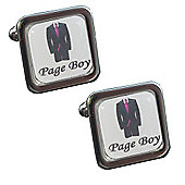 Fuschia Tie - Page Boy Wedding Cufflinks