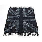 Rug Solid Grey Flag Rug - 90cm x 60cm (2 ft 11.5 in x 1 ft 11.5 in)