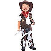 Bristol Novelty CC016 Cowboy Toddler Costume