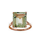 QP Jewellers 6.50ct Green Amethyst Auroral Ring in 14K Rose Gold