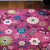 Element Bohemia Pink Floral Rug - 120 x 160 cm
