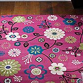 Pink Floral Rug - 120 x 160 cm