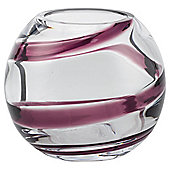 Tesco Swirl Bowl Vase Small Plum