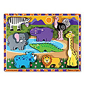 Safari Animals - Chunky Puzzle - Melissa & Doug.