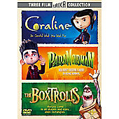 The Boxtrolls/ Paranorman/ Coraline (DVD)