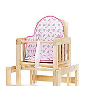 Tiny Tatty Teddy Highchair Insert (Pink)