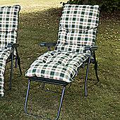 Swift Garden Furniture Capri Single Piped Reclining Lounger - Hunter