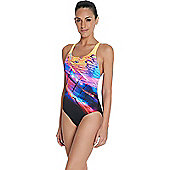 Speedo Ladies Placement Digital Powerback Swimsuit - Multi