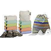 Close Pop-In V2 Bamboo Pastels 10 Washable Nappies - Middle Box