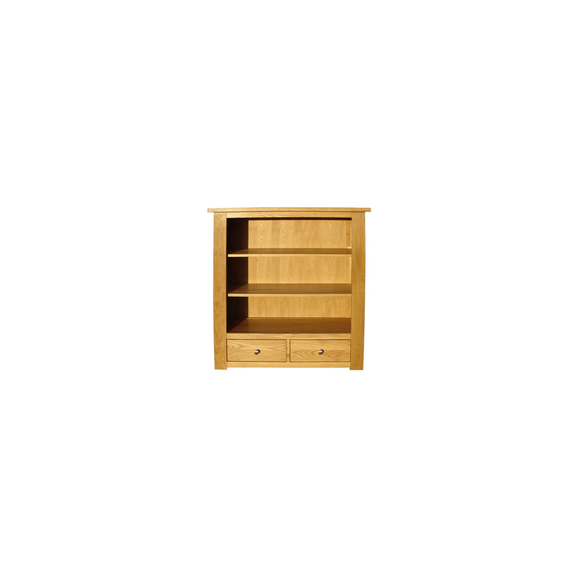 Home Zone Furniture Lincoln Oak 2009 Low Book Case at Tesco Direct