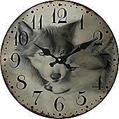Wolf Circular Wall Clock