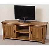 Cotswold Rustic Solid Oak Widescreen Tv Unit Cabinet