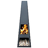 GardenMaxX Vilos Fireplace - Corten - 150 cm H x 44 cm W x 44 cm D