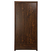 Tribeca Double Wardrobe with Drawer, Walnut