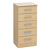 Ideal Furniture Budapest 5 Drawer Tall chest - Beech