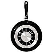 Home Essence Frying Pan Clock - Black
