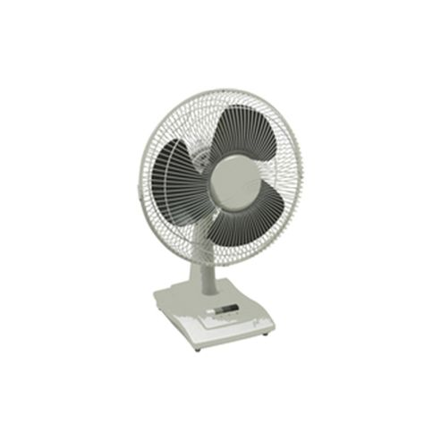 Q-Connect KF00402 9 inch Desktop Fan, 2 Speed - White