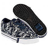 Heelys Launch Navy/Graffiti Print Heely Shoe - Blue