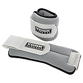 York Fitness Y Ankle Weights 2 x 1.0kg