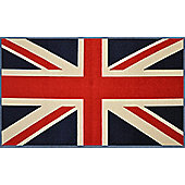 Wash & Dry by Kleen-Tex Union Jack Flat Bordered Rug - 120cm x 75cm