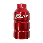 Blitz Pro Scooter Pegs Alloy Red c/w 60,70+80mm axles