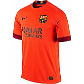 2014-2015 Barcelona Away Nike Football Shirt - Orange